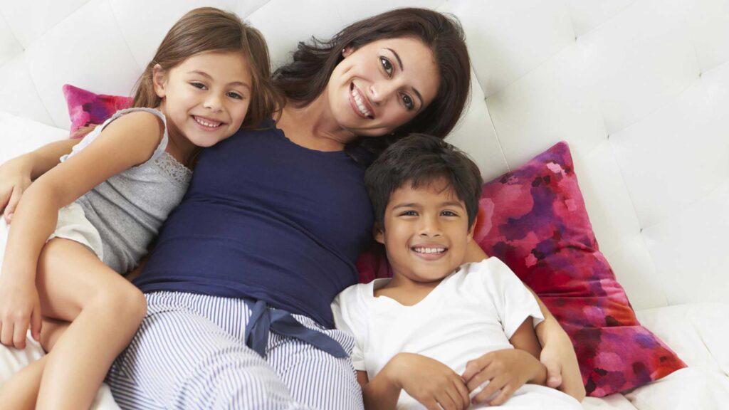 Single mother divorced
